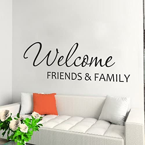 """HOME FRIENDS FAMILY ~ Wall Decal Decor Vinyl Quote Lettering Words 36/"""""""