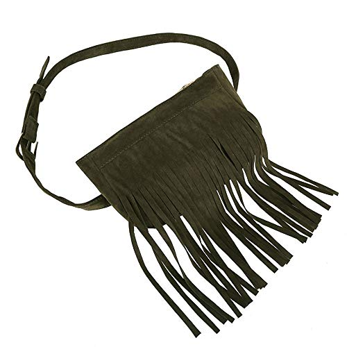 Green Messenger Black Handbag Tassels Bag Bag Fringe Waist Iuhan Women Bags Hippie Chest Women's Women Hobo Tassel Clearance Suede Bag Messenger Rvxxwnf