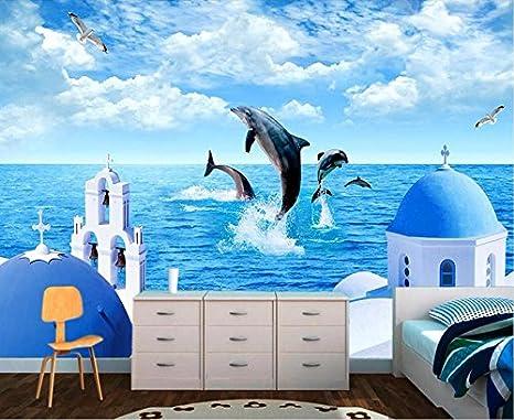 Weaeo Foto De Encargo Fondo De Pantalla 3D Delfín Del Mar Azul ...