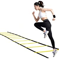 Professional Speed Agility Ladder for Teens - 12 Rung 20ft - Nylon Agility Training Ladder with 1 Carry Bag, Ideal for Soccer, Speed, Football Fitness Feet Training
