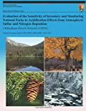 Evaluation of the Sensitivity of Inventory and Monitoring National Parks to Acidification Effects from Atmospheric Sulfur and Nitrogen Deposition, T. J. Sullivan, 1491078839