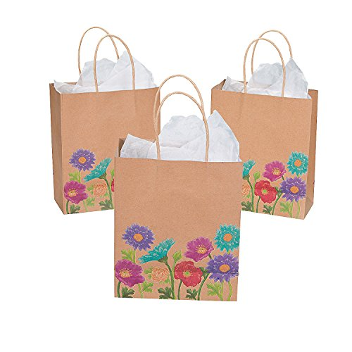 Love in Bloom Wedding Gift Bags (12 Pack) 7 1/4