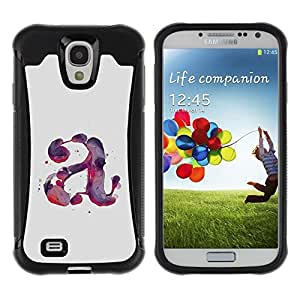 """Hypernova Defender Series TPU protection Cas Case Coque pour Samsung Galaxy S4 IV I9500 [Carta Acuarela Pintura Púrpura Rojo""""]"""