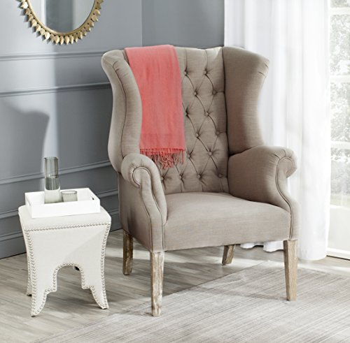Safavieh Mercer Collection Brandon Club Chair, Taupe For Sale