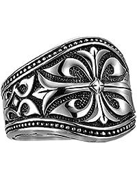 UNKAGED WARRIOR Sparta Engraved Scott Kay Mens Sterling Silver Ring