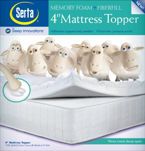 Amazon Com Serta 4 Inch Dual Layer Mattress Topper California King