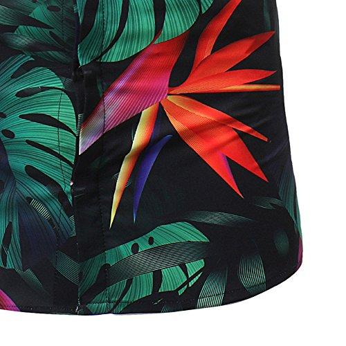En Col Plage Plage vacances Mode De Hawaiian Été Hommes Aloha Hawaïen Hawaïenne Chemise Pour Boutons Manche pour Rond Nior Success Fleur Courte Printemps Loisir Vacance ZvxHWnZR