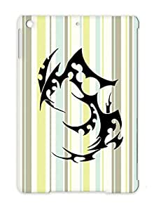 T Shirt Tattoo Art Design Illustration Symbol Henna Tribal Black Pacific Ethnic Folk Art Black For Ipad Air Protective Hard Case