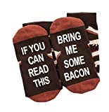 If You Can Read This Bring Me Socks - Beer, Wine, Bacon, Taco, Tea - Funny Novelty Gift - Men & Women (Bacon)