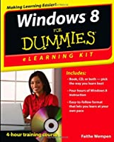 Windows 8 eLearning Kit For Dummies Front Cover