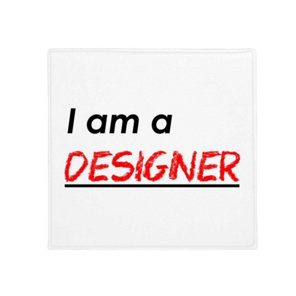 DIYthinker Quote I Am A Designer Anti-Slip Floor Pet Mat Square Home Kitchen Door 80Cm Gift