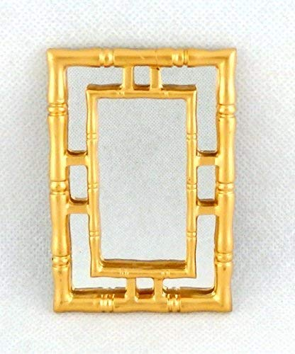 Melody Jane Dolls Houses House Miniature Accessory Contemporary Gold Framed Wall Mirror 1:12 -