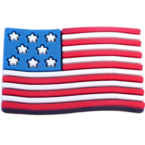 (USA American Flag Rubber Charm for Wristbands and)