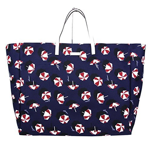 Gucci Canvas Blue Parasol Print Large Tote Handbag 286198 - Outlet Discount Gucci