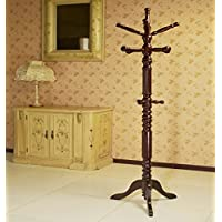 Frenchi Home Furnishing Traditional Spinning Top Wooden Coat Rack, Cherry
