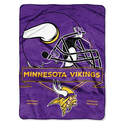 The Northwest Company NFL Minnesota Vikings Prestige Plush Raschel Blanket, 60