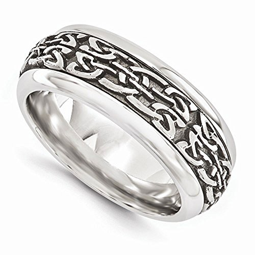 Edward Mirell Titanium with Stainless Steel Inlay 9mm Wedding Band - Size 12.5 by Edward Mirell