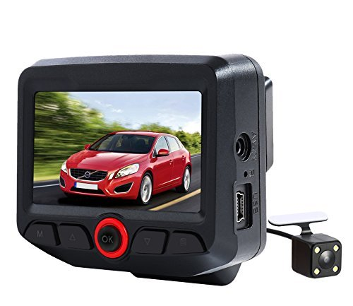 MeHuiLe 2.45-inch Dual Lens FHD 1080P IPS Screen WiFi 165 Wide Angle Car Dashboard Camera DVR Rearview Dash Cam G-Sensor Parking Monitor Loop Recording Motion Detection WDR Sony Sensor Night Vision