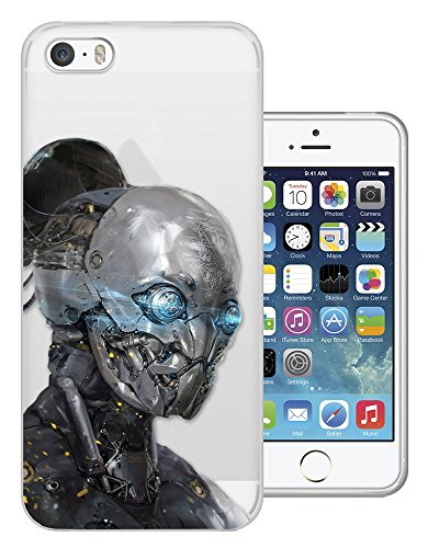 c01440 - Robot Transformer Blue Eyes Virtual Reality Design iphone 4 4S Fashion Trend CASE Gel Rubber Silicone All Edges Protection Case Cover