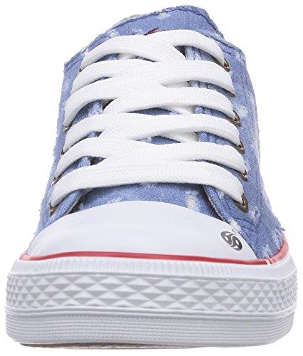 Dockers by Gerli 36AY60 - zapatillas deportivas altas de lona infantil azul - Blau (hellblau 610)