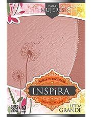 Biblia de Promesas Inspira Para Mujer / Reina Valera 1960 - Letra Grande- Oro Rosada