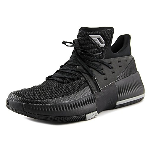 adidas Dame 3 Shoe Mens Basketball 12.5 Core Black-Core Black-Solid Grey