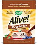 Nature's Way Alive! Protein Shake 100% DV of 8 B-Vitamins, Non-GMO Vegetable Protein, No Added Sugar, Chocolate Flavor.57 lb