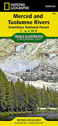 Merced and Tuolumne Rivers [Stanislaus National Forest] (National Geographic Trails Illustrated Map) (Outlet-mercedes)