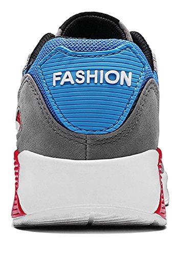 JiYe Running Shoes Men Fashion Students Breathable air Cushion Flyknit Sneakers,Grey,43EU=9.5US-Men by JiYe (Image #2)
