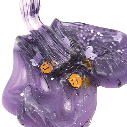 (Theshy Halloween Cloud Slime Pumpkin Ghost Mud Stress Relief Kids Clay Toy 60ML Education Baby)