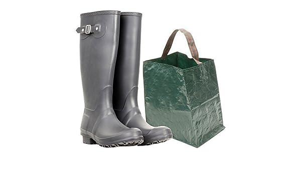 4YourHome - Bolsa resistente de almacenamiento para cargar botas tipo Wellington sucias y con lodo: Amazon.es: Jardín