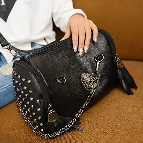 Crossbody Black Tutte Bag Shoulder Rivet Donne Skull Le Abbinate Handbag Knossos Nappe qx8vPdP0