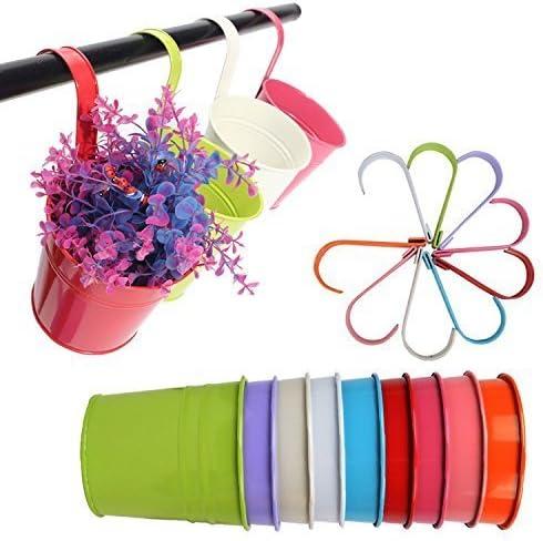 KINBEDY - Macetas colgantes de flores, macetas de jardín, balcón ...
