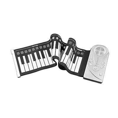 TINGYIN Teclado portátil de Piano con Teclado de 49 Teclas Teclado Digital para Adultos Teclado de Piano Plegable para niños Entrada de Piano eléctrico: Hogar