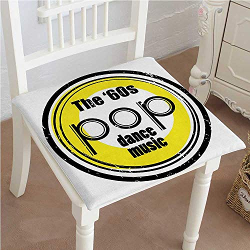 - Mikihome Indoor/Outdoor All Weather Chair Pads Collection Party Music Night Club Bar Band Pop Dance Performance Festival Good Old Seat Cushions Garden Patio Home Chair Cushions 22