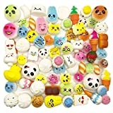 Random 30pcs Jumbo Medium Mini Soft Squishy Cake/Panda/Bread/Buns Phone Straps by Huastyle