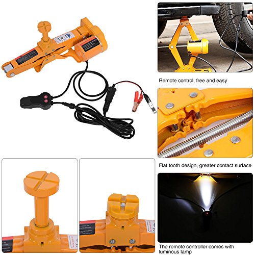 Automotive Electric Car Jack, 3 Ton 12V DC Scissor Lift Jacks Electric Jack Lifting Car SUV Emergency Equipment Impact Wrench with Controller by Estink (Image #3)