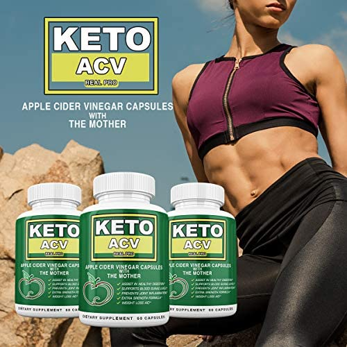 Keto BHB and ACV Real PRO - Organic Apple Cider Vinegar with Mother Capsules - Keto Advanced Weight Loss Supplement - 1 Month Combo 6