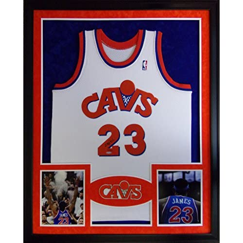 hot sale online 3bfe4 1b7f3 Lebron James Framed Jersey Signed UDA COA UpperDeck ...