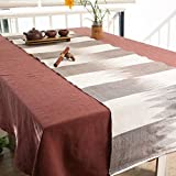 Chinese table flag/simple tea ceremony flag-Coffee color 45x180cm(18x71inch)