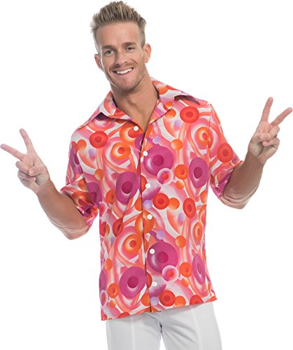 Charades Men's California Dreamin Disco Guy Costume Shirt,