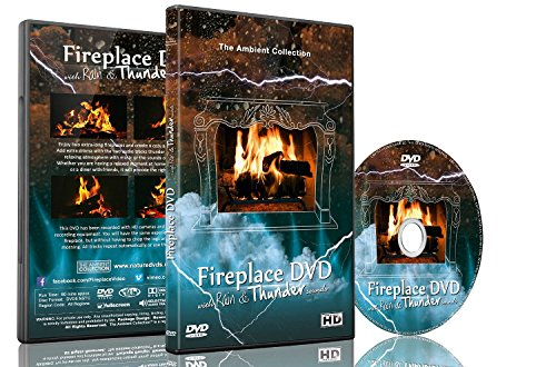 Fire Dvd - Chimenea con lluvia y sonidos más delgados
