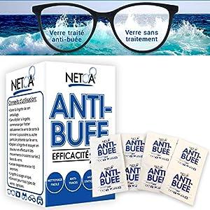 Netoa ® – Paquete de 120 toallitas antivaho para todo tipo de lentes, gafas graduadas, de sol, de natación, máscaras de buceo, prismáticos, ideales contra el vapor y el vaho 14