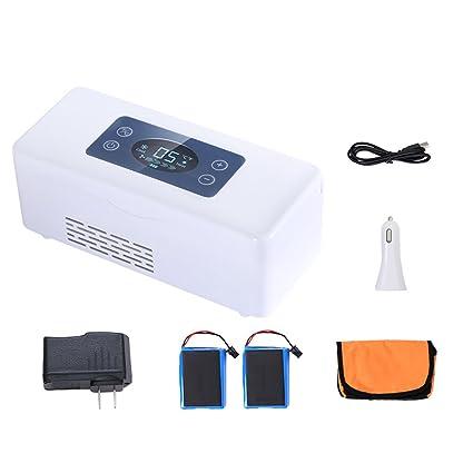 XQCYL Nevera E Insulina De La Medicina Caja Refrigerada Refrigerador Portátil Termostato Mini Refrigerador Refrigerador De