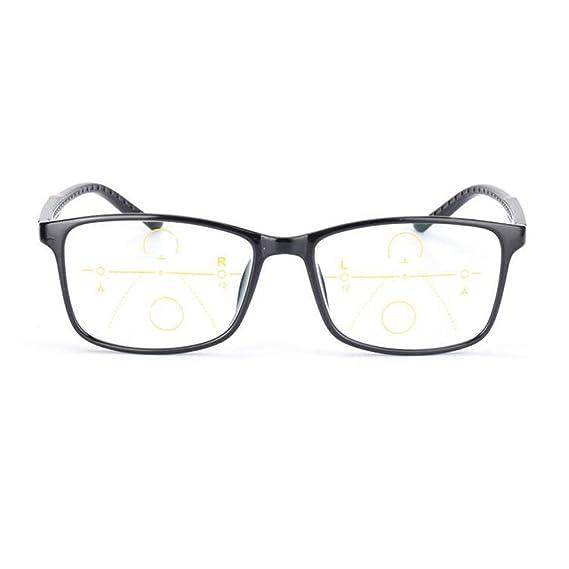 Lentes de lectura de transición progresiva Anti Blue Ray Lector de computadora Multi Focus No Line Gradual Gafas de sol fotocromáticas UV400 TR90 ...