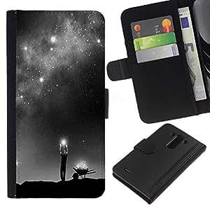 For LG G3 Case , God Milky Way Deep Meaning Stars - la tarjeta de Crédito Slots PU Funda de cuero Monedero caso cubierta de piel
