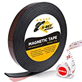 Flexible Magnetic Strip - 1/2 Inch x 10 Feet Magnetic Tape with Strong