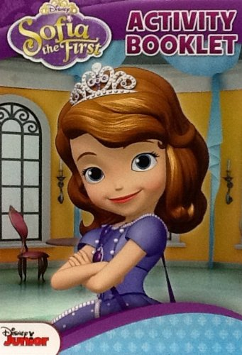 "Disney Junior Sofia the First ~ Small Coloring & Activity Flip Top Pad! 64 Pages ~ 5"" X 8"""