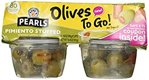 Pearls Pimiento Stuffed Spanish Green Olives - 4 ct