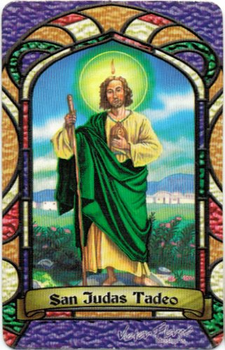 Amazoncom San Judas Tadeo St Jude Bilingual Prayer Card With